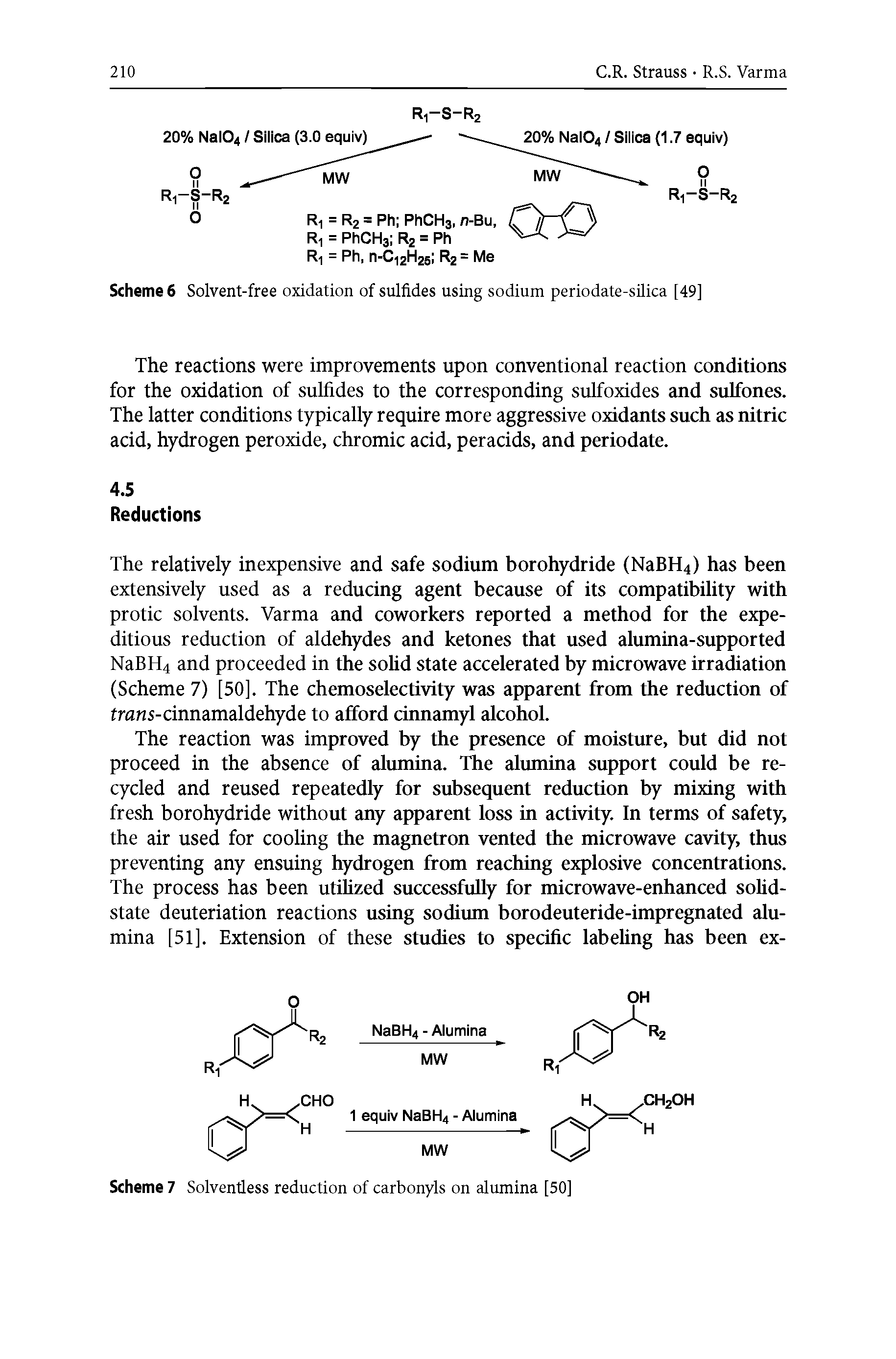Scheme 6 Solvent-free oxidation of sulfides using sodium periodate-silica [49]...