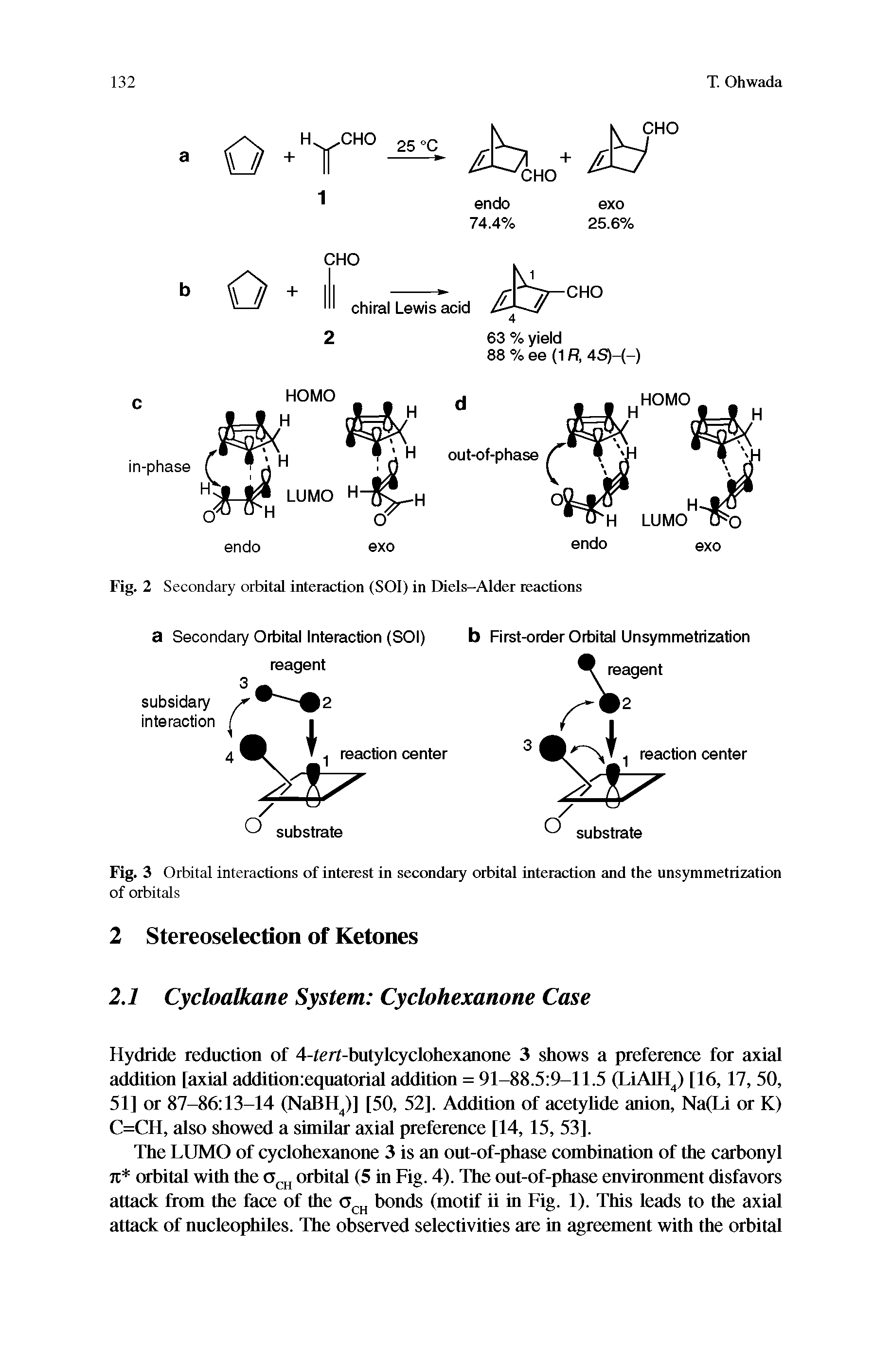 "Fig. 2 Secondary orbital interaction (SOI) in <a href=""/info/diels_alder"">Diels-Alder</a> reactions"