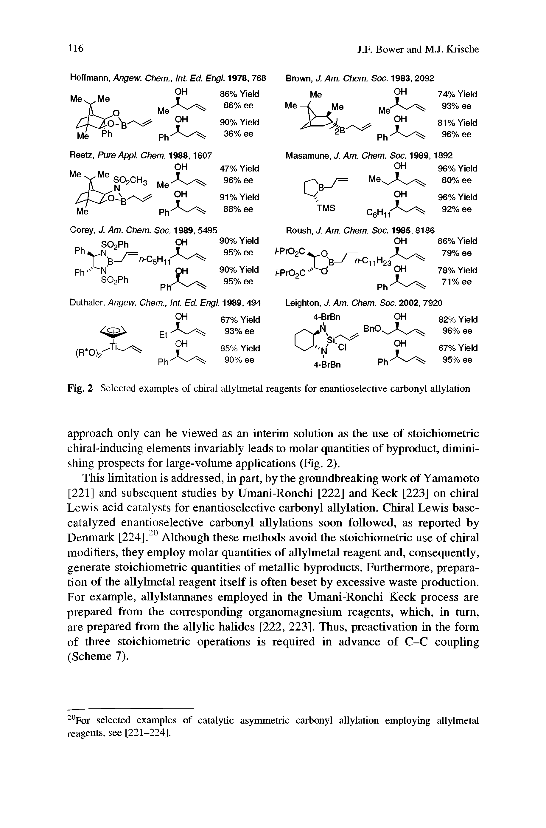 "Fig. 2 <a href=""/info/selected_examples"">Selected examples</a> of <a href=""/info/allylmetal_chiral"">chiral allylmetal</a> reagents for enantioselective carbonyl allylation"